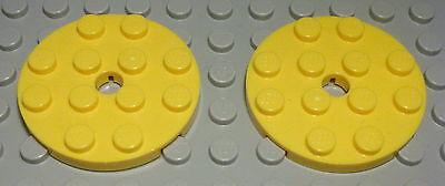 Lego Platte rund 4x4 Gelb 2 Stück                       (744)                    online kaufen