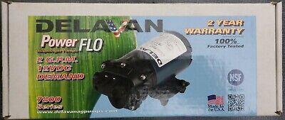 Delavan On Demand Powerflo 7812-201-sb Diaphragm Pump 12v 60 Psi 2.0 Gpm Usa