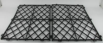 Glass Shelf Mats Black Plastic Interlocking Pub Bar Stacking Mat Barware Pk 50 - Interlocking Bar Shelf Mat