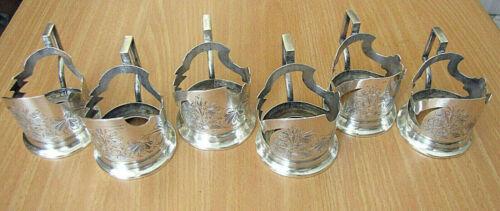 6 Armenian Antique Silver Glass Holders, Van, Ottoman Empire, 351 gr., 19th cen.