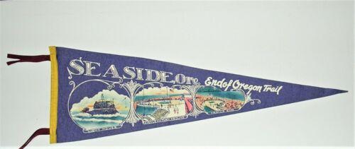 Vintage Pennant Seaside Oregon, End of Oregon Trail, Light House, Turn Around