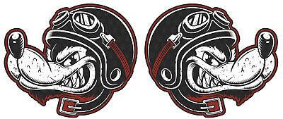 2x WOLF Aufkleber Racing Sticker Motorrad Tank Club 1% V2 Custom Biker TOP MG317 (Aufkleber Custom)
