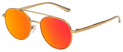 Michael Kors Lon Sunglasses MK 1021 11686Q 53 Gold | Red / Orange Mirror Lens