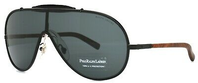 w/c Polo Ralph Lauren Aviator Sunglasses Balck Green Silver made in (Ralph Lauren Women's Aviator Sunglasses)