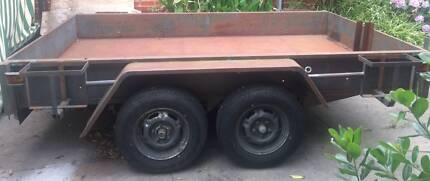 Tandem Trailer 10x8 with motorbike tray and boat rack