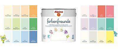 Alpina 2,5 L. Farbenfreunde, Wandfarben speziell für Kinderzimmer, Kind, Baby