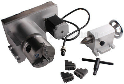 Cnc F Style A-axis 4th-axis Router Rotational Rotary Axis 3-jaw 80mmtailstock