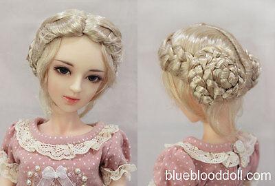 "1/4 1/3 bjd 7-8"" doll head blonde color vintage buns wig dollfie Luts Iplehouse"