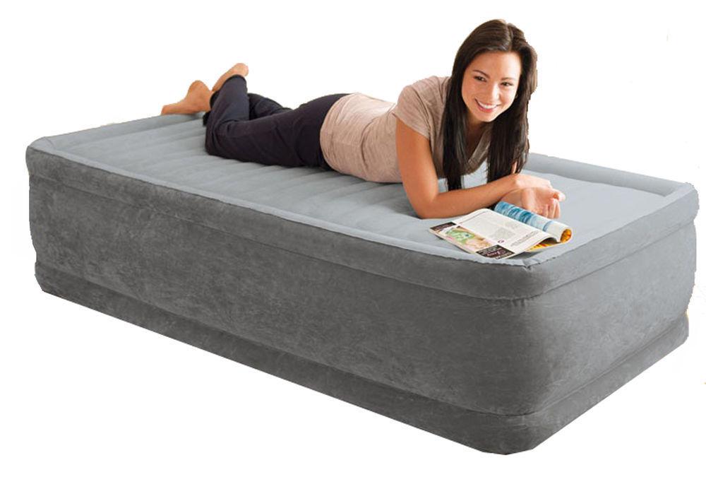 Materasso gonfiabile Intex 64412 letto singolo comfort dura beam con pompa Rotex