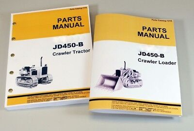 Parts Manual Set For John Deere 450b Crawler Loader Tractor Catalog Assembly