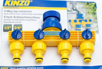 4-fach Distribuidor Conexión de la Manguera Agua para Jardín