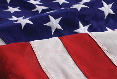 4' x 6' Embroidered Cotton US Stars and Stripes Flag Made In USA banner grommets