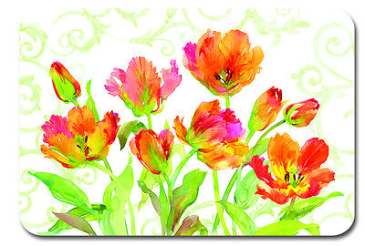 Placemats Vinyl Place Mats Garden Party Ideas Tulips Set of  4 Table Mats - Place Settings Ideas