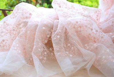 Pink Stickerei Braut Kostüm DIY Tüll Hochzeit Spitze Stoff 0.5 M