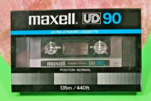 MAXELL UD 90 Blank Ultra Dynamic Sealed Cassette Tape 135/440Ft New Made Japan