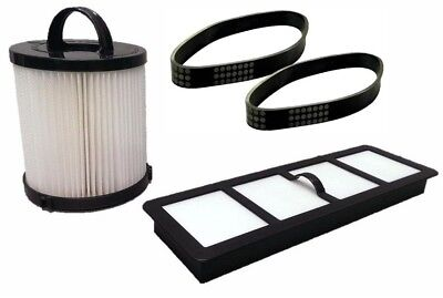 Filter Kit Bundle DCF21 EF6 HEPA Exhaust + 2 U Belts EUREKA Vacuum 68931A, 69963