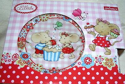 3-tlg Kinderteller LILLEBI von STEINBECK  Kindermenue-Teller Set Frühstücksset