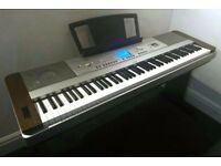 Yamaha DGX-640 , DGX640 88-Key Hammer Standard Portable Grand Piano with Keyboard Stand and Pedal.