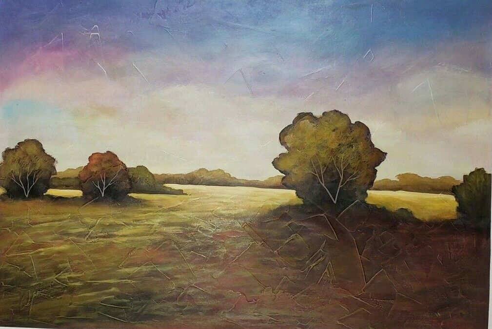 Original By John Boyd Fine Art Nature 23 X 32 One Of A Kind Beautiful Textured - $690.00
