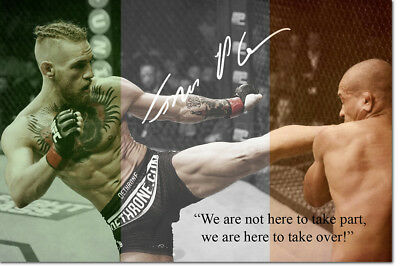 CONOR MCGREGOR QUOTE PHOTO PRINT POSTER PRE SIGNED  - 12 X 8 INCH - N.0 1