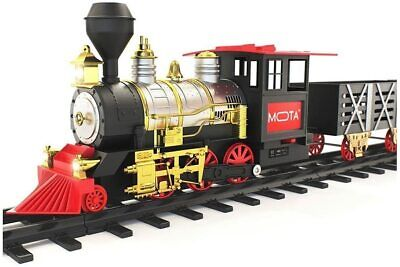 MOTA Classic Holiday Christmas Train Set with Real Smoke - Authentic Lights, and