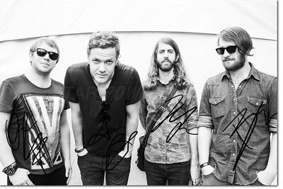 IMAGINE DRAGONS PHOTO PRINT POSTER PRE SIGNED - 12 X 8 INCH  A+ QUALITY