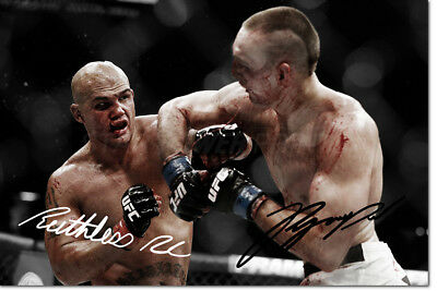 ROBBIE LAWLER & RORY MACDONALD PHOTO PRINT POSTER PRE SIGNED - 12X8 INCH (A4)