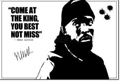 OMAR LITTLE (THE WIRE) PHOTO PRINT PRE SIGNED  12 X 8 INCH  - MICHAEL K WILLIAMS