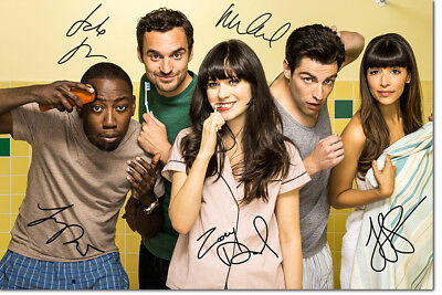 NEW GIRL CAST PHOTO PRINT POSTER PRE SIGNED - 12 X 8 INCH - PREMIUM QUALITY