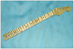Maple-strat-Guitar-Neck-22-Fret-Full-Fretjob-W-nut-NECK-for-Star-New