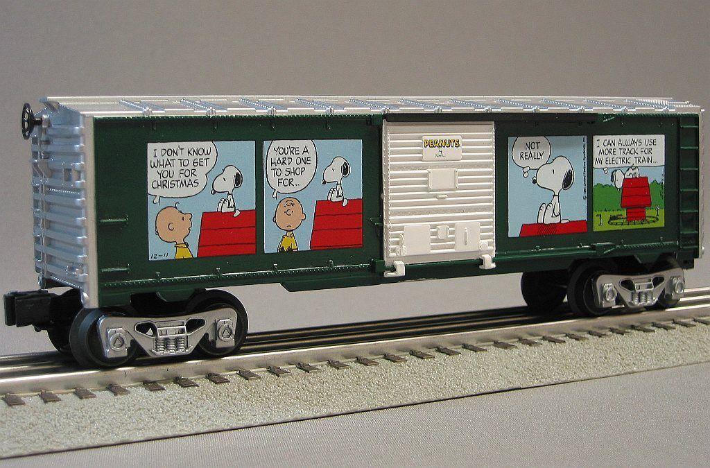Lionel Peanuts Christmas Boxcar Train O Gauge Shultz Snoopy Freight 6-30193b