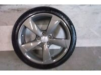ALLOYS X 4 OF GENUINE AUDI/A3/ 18 INCH 5/SPOKE/ROTA/FULLY POWDERCOATED INA STUNNING ANTHRACITE NICE
