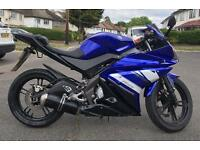YAMAHA YZF-R125 2012 WITH YEARS MOT EXCELLENT RUNNER VERY LOW MILES AND GIANNELLI SPORTS EXHAUST