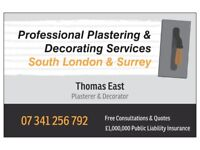 Thomas E - Local Plasterer, Painter and Decorator - Skimming, Ceiling Repairs, Stud Wall