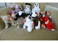 12 ty Beanie Babies - retired - Great presents! - Wiser, Daisy, Freckles, Snort, Lips, Stinky & more
