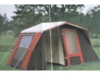 Frame tent complete with bedroom inner with fitted groundsheet