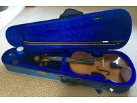 Stentor Student Violin 4/4 & Wolfe Forte Primo Violin Shoulder Rest & Books - Excellent Condition