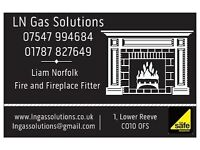 LN Gas Solutions specialises in fitting fireplaces, fires and cookers for both Natural Gas and LPG