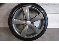ALLOYS X 4 OF 18 INCH GENUINE AUDI A3/A4 FULLY POWDERCOATED IN A STUNNING GRAPHITE VERY NICE ALLOYS