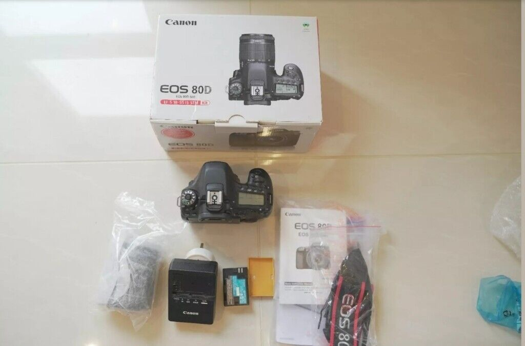 Used canon 80d camera with 18-55mm lens   in Walthamstow, London   Gumtree