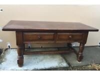 Small lounge coffee magazine table with drawers