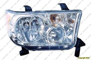Head Lamp Passenger Side With Level Adjuster High Quality Toyota Tundra 2009-2013