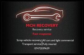 Transport/Breakdown recovery west Yorkshire.SCRAP CARS BOUGHT FOR CASH!