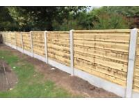 🌩New Timber Wayneylap Fence Panels