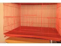 Lovely coloured bird cage. Hight 16ins. Wide 23ins. Deep 17 ins
