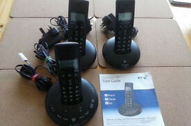 BT Graphite 2500 Triple Phone with answering machine.