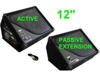 "Studiomaster Powered Active Floor Monitor & Passive Extension 12"" Speaker"