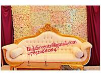 Party Decorations/Wedding Decor /Balloon Services/love sofa Hire/Chair cover Hore