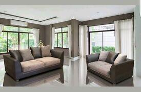 --Fabric 3 + 2 Sofa set--