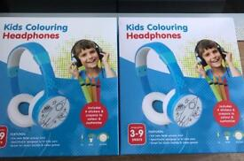 2 X Blue Kids Colouring Headphones 🎧